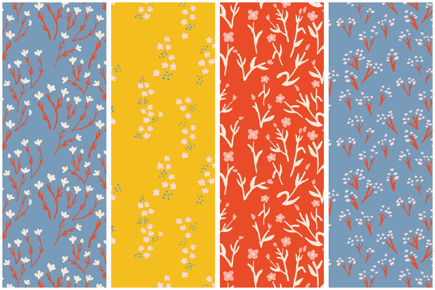 Painted Flower Patterns