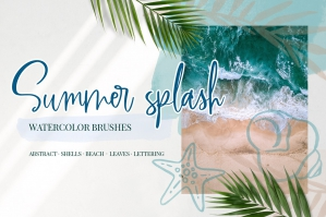 Summer Splash - Watercolor Brushes