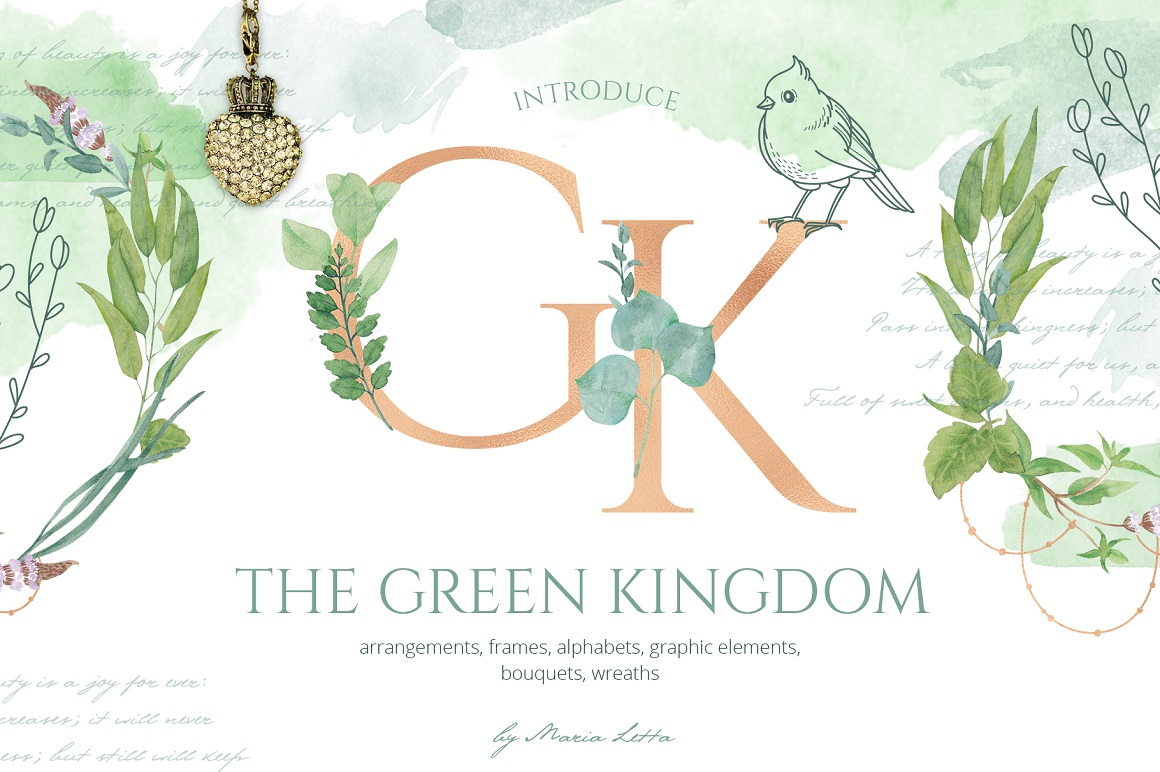 The Green Kingdom Graphic Set