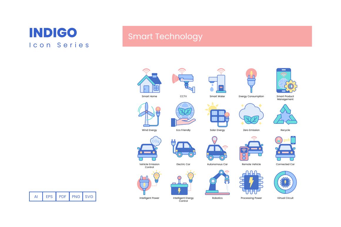 100 Smart Technology Icons