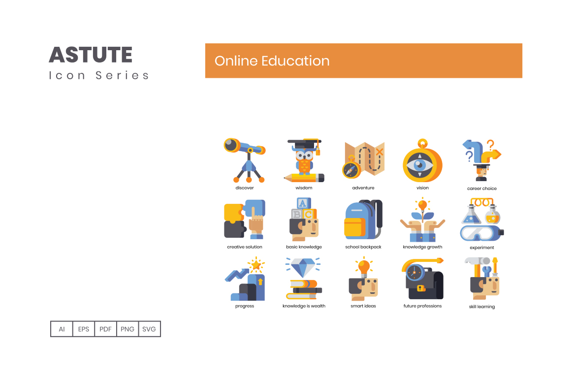 110 Online Education Icons
