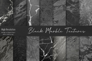 Black Marble Digital Paper Pack