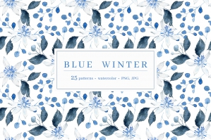 Blue Winters Patterns Collection