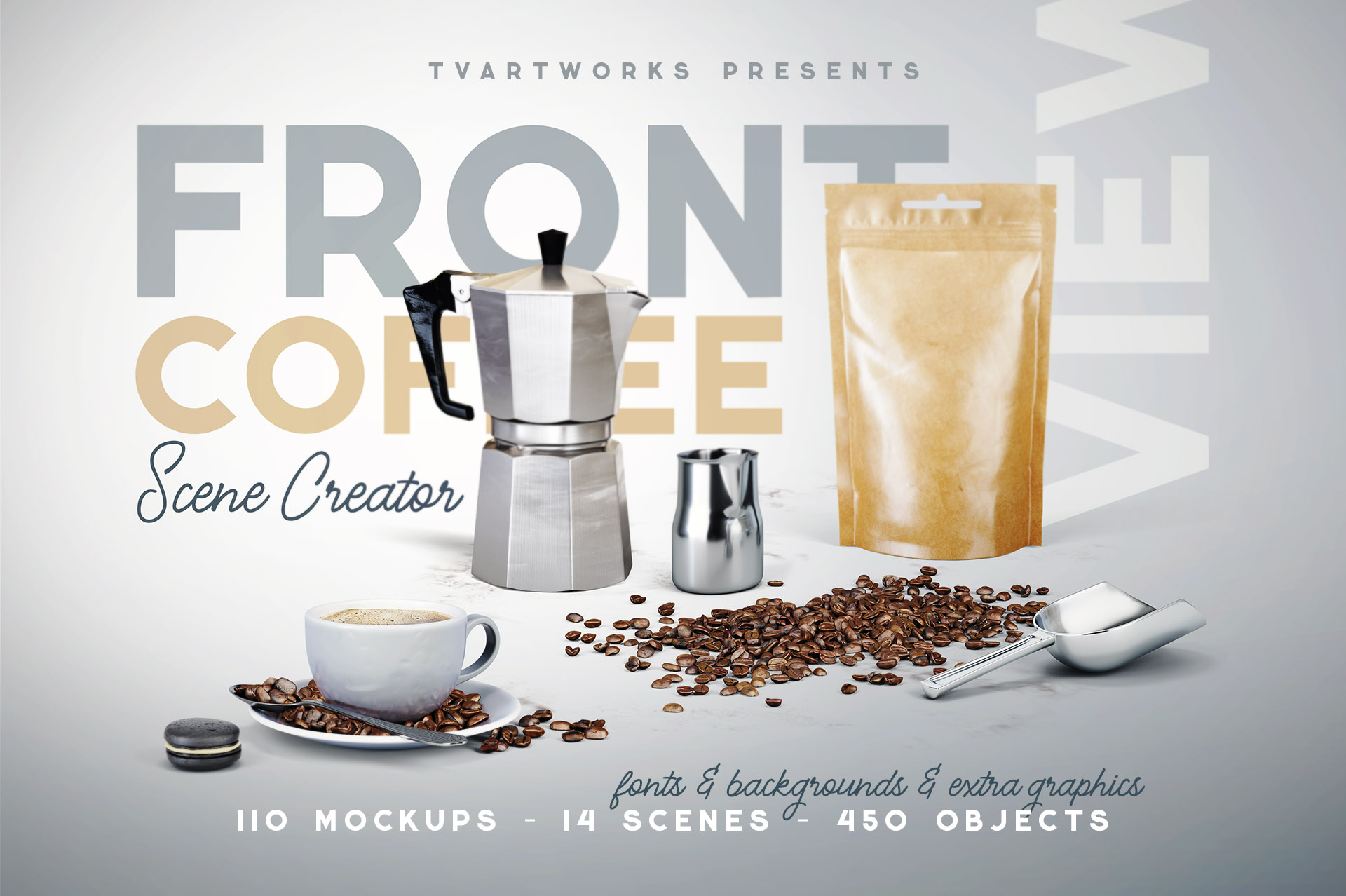 Coffee Scene Creator - Front View