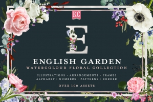 English Garden Watercolor Florals