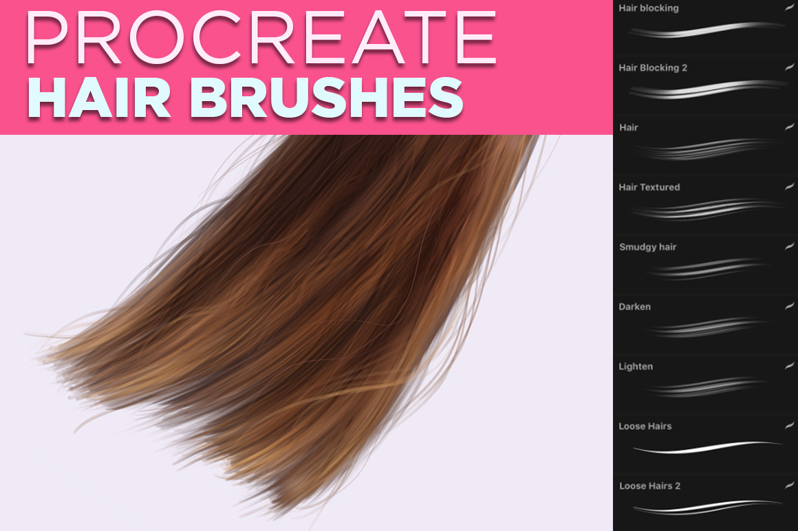 Hair Brushes for Procreate
