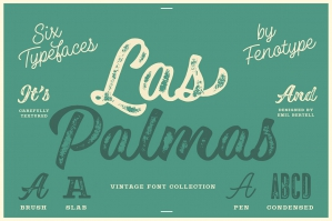 Las Palmas Vintage Type Collection