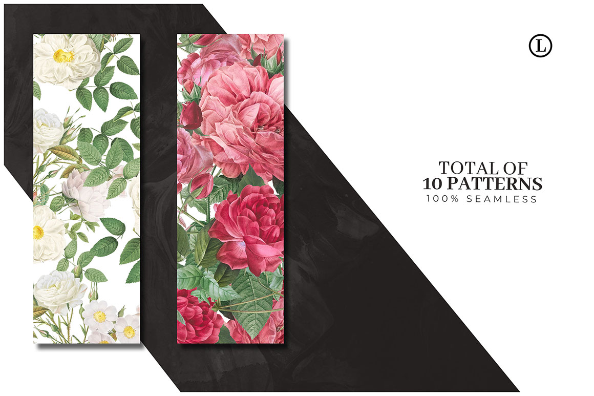 Lush Flowers - Seamless Patterns