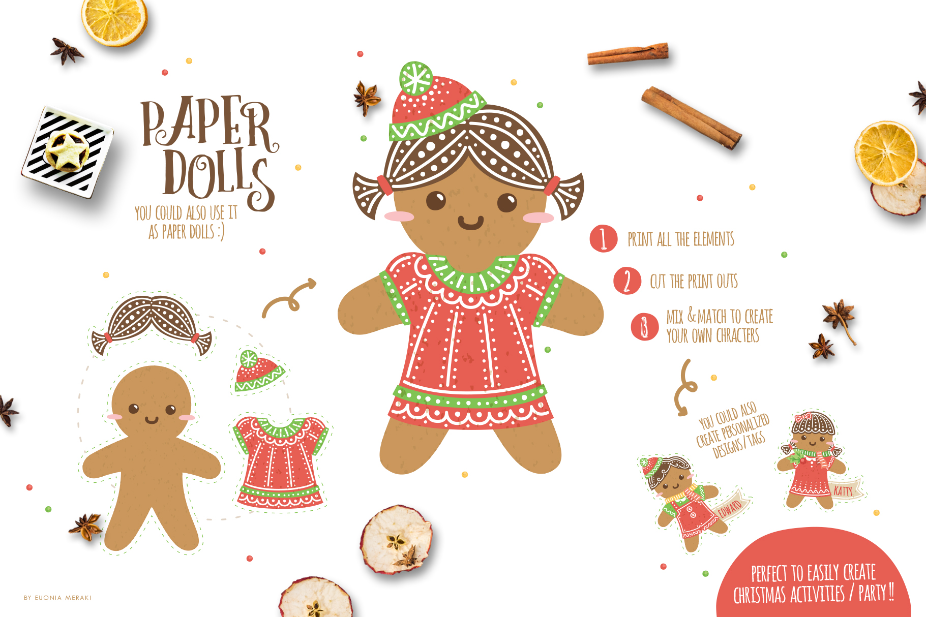 Cute Gingerbread Character Creator