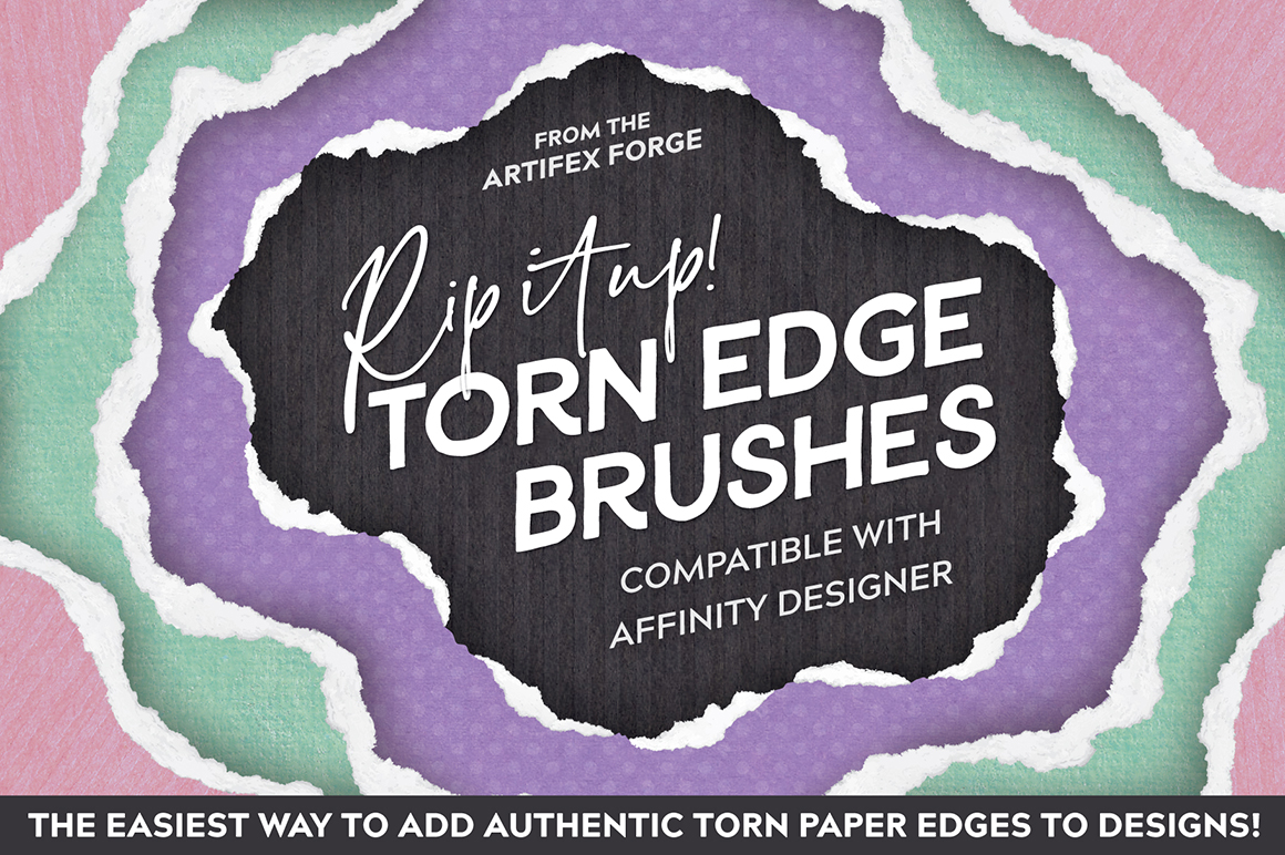 Rip It Up! Torn Edge Affinity Brushes