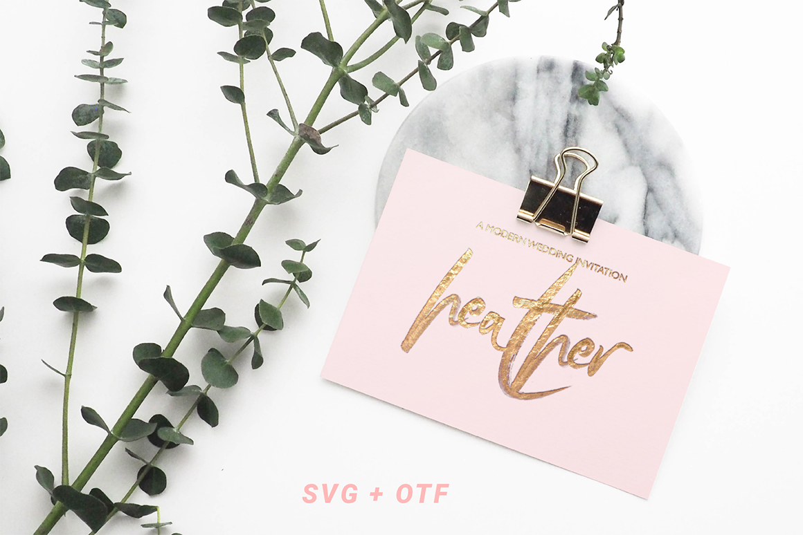 SkyLove SVG Hand Drawn Watercolor Script Font