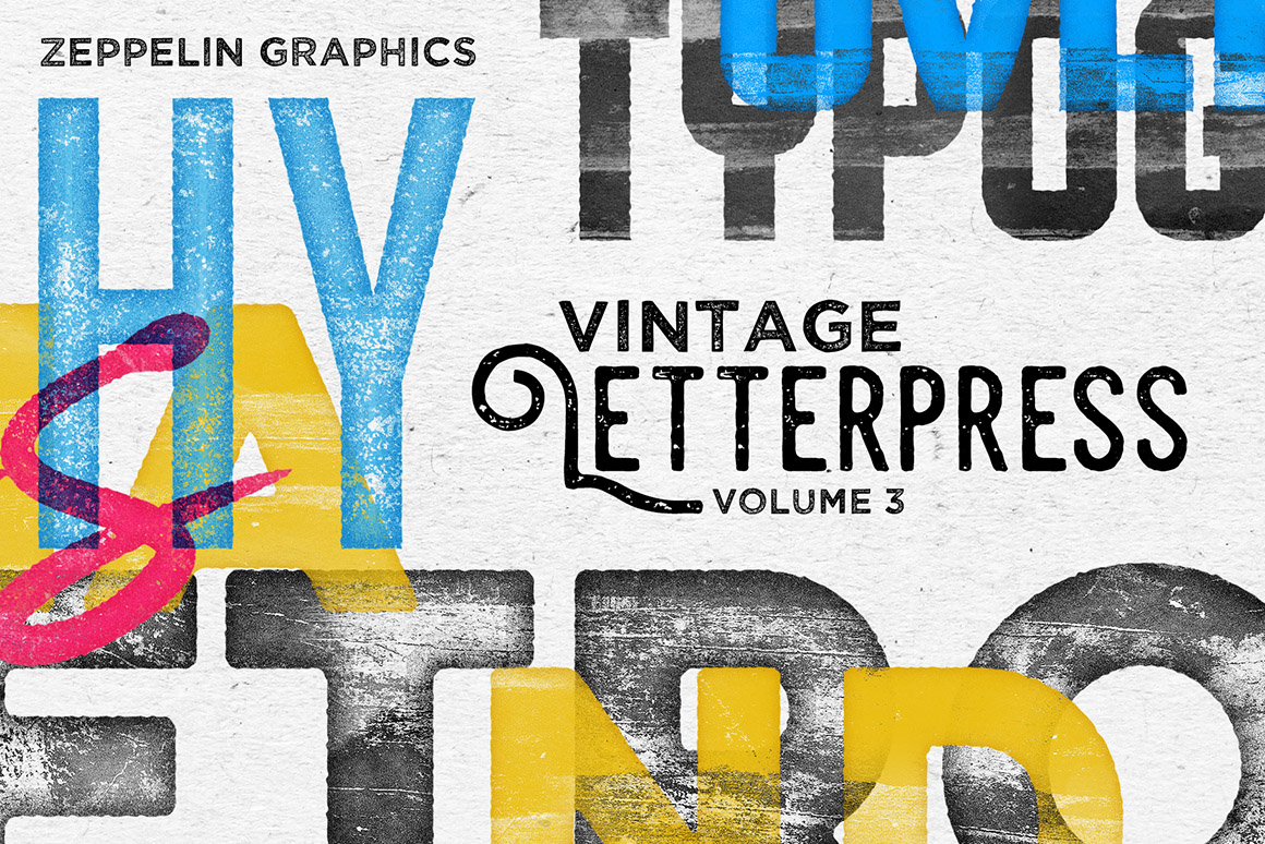 Vintage Letterpress Texture Effects Vol.3