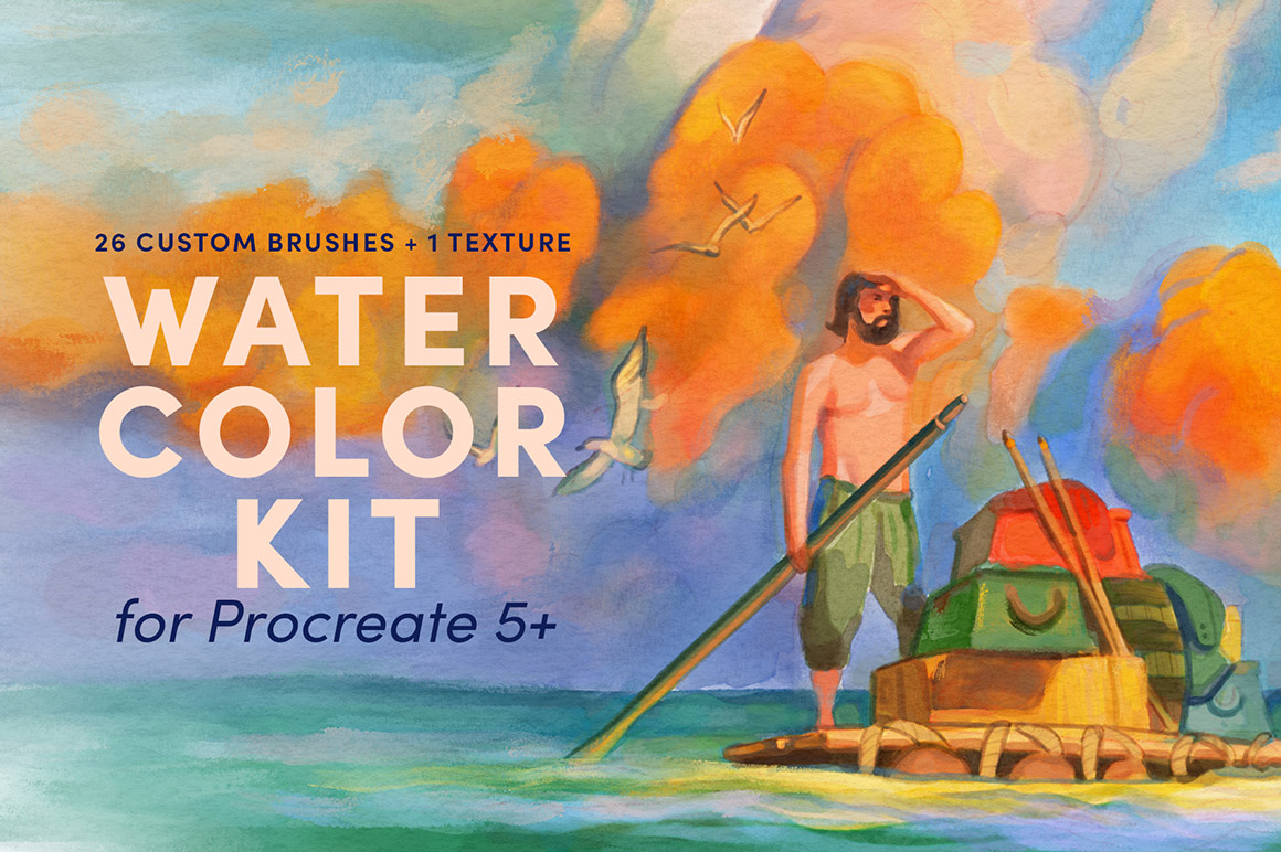 Watercolor Kit - Procreate Brushes