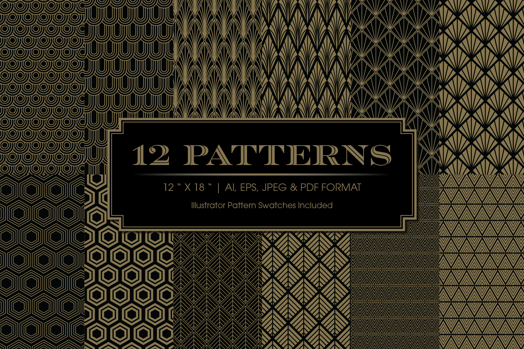 Art Deco Invitations and Patterns