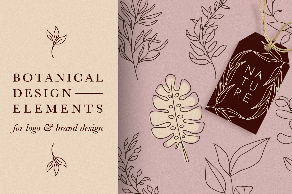 Botanical Elements for Logo Design