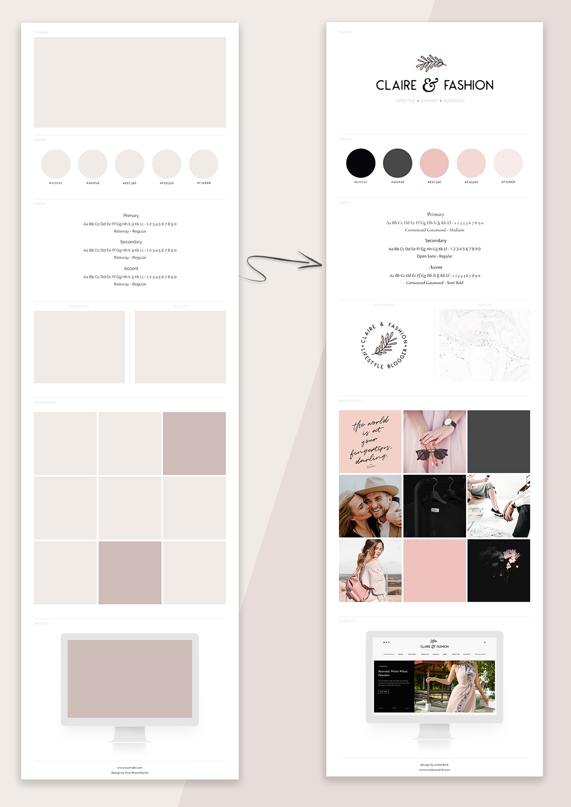 Elegant Brand Board Layout Template