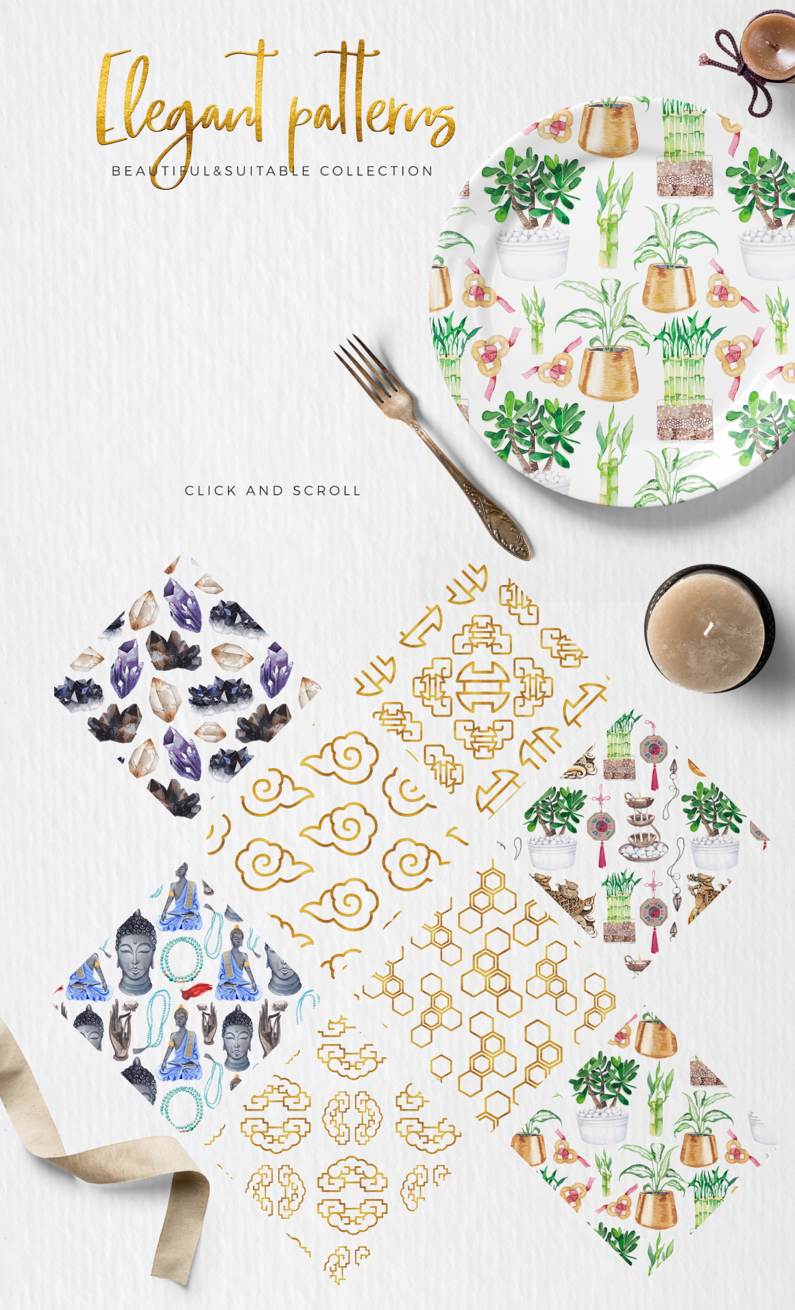 Feng Shui Watercolor Design Kit