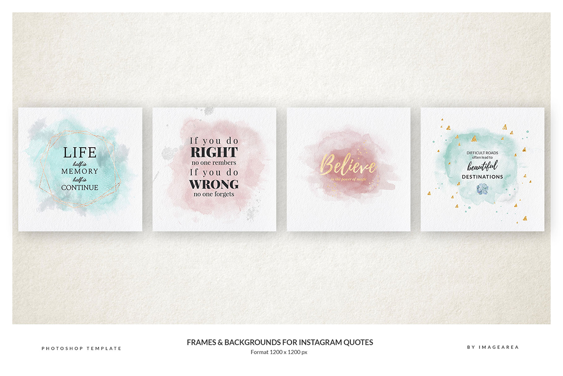 Frames and Background for Quotes
