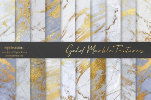 Gold Foil Marble Textures