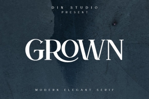 Grown - Modern Serif Display