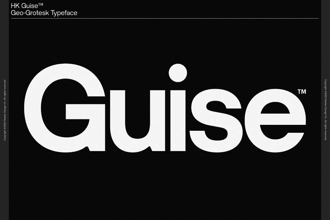 HK Guise Typeface