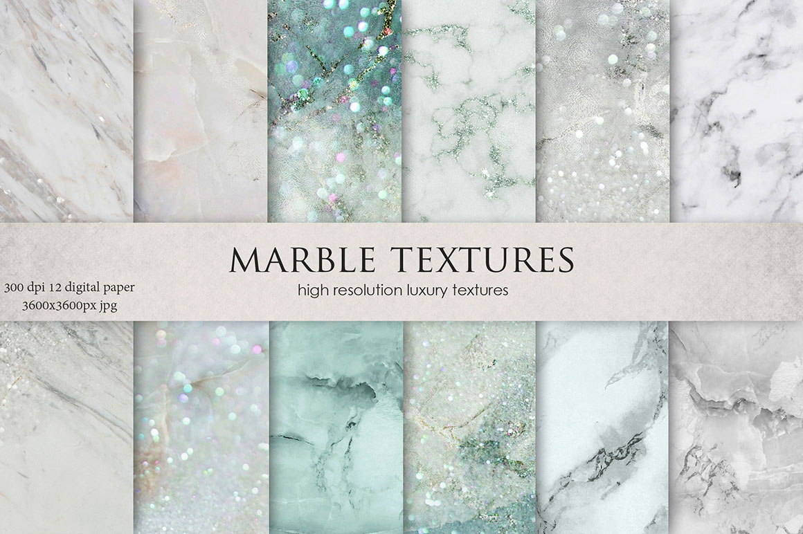 Light Blue Marble Textures Design Cuts