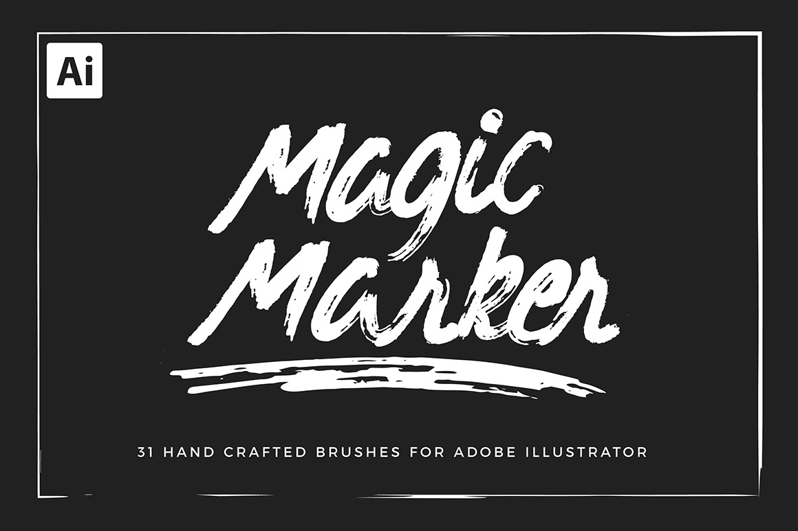 Marker Brushes for Illustrator
