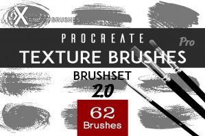 Procreate Texture Brushes Pro2!