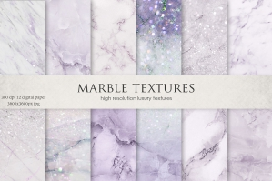 Purple Marble and Glitter Textures
