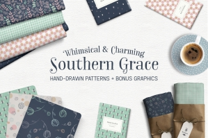 Southern Grace Hand-Drawn Patterns & Illustrations