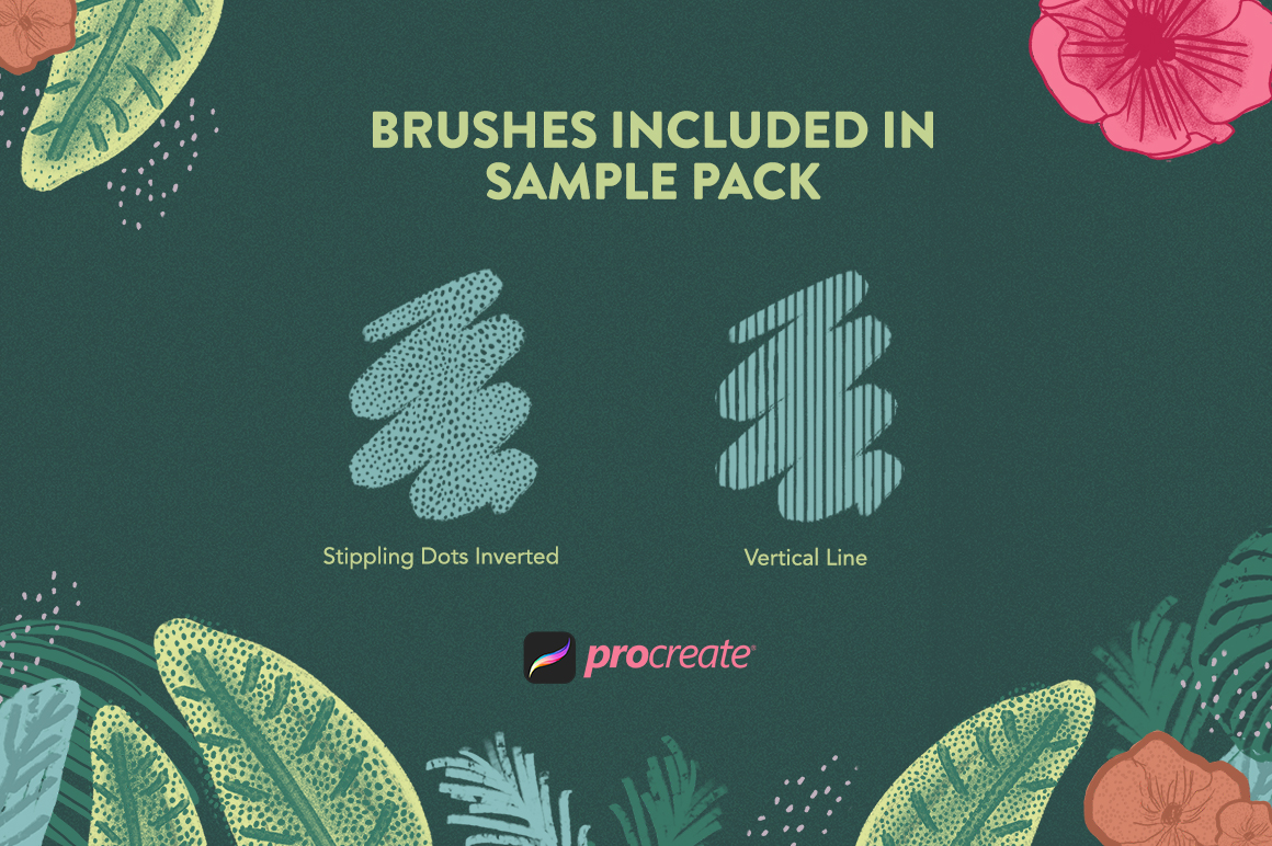 Texture Toolkit Brushes for Procreate Sample