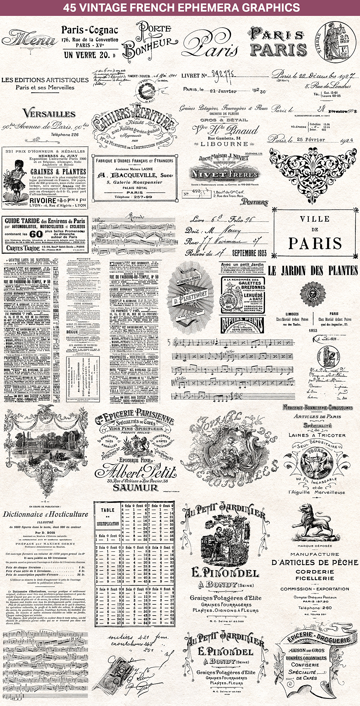 The Essential Vintage French Graphics Collection