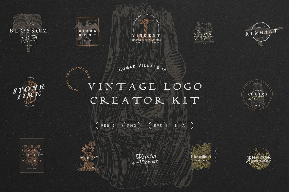 The Vintage Logo Creator Kit