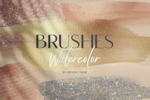 Watercolor Brush Strokes Textures