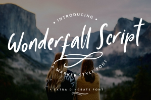 Wonderful Script and Dingbats Font