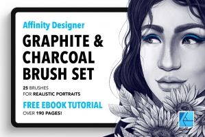 25 Graphite and Charcoal Affinity Brushes