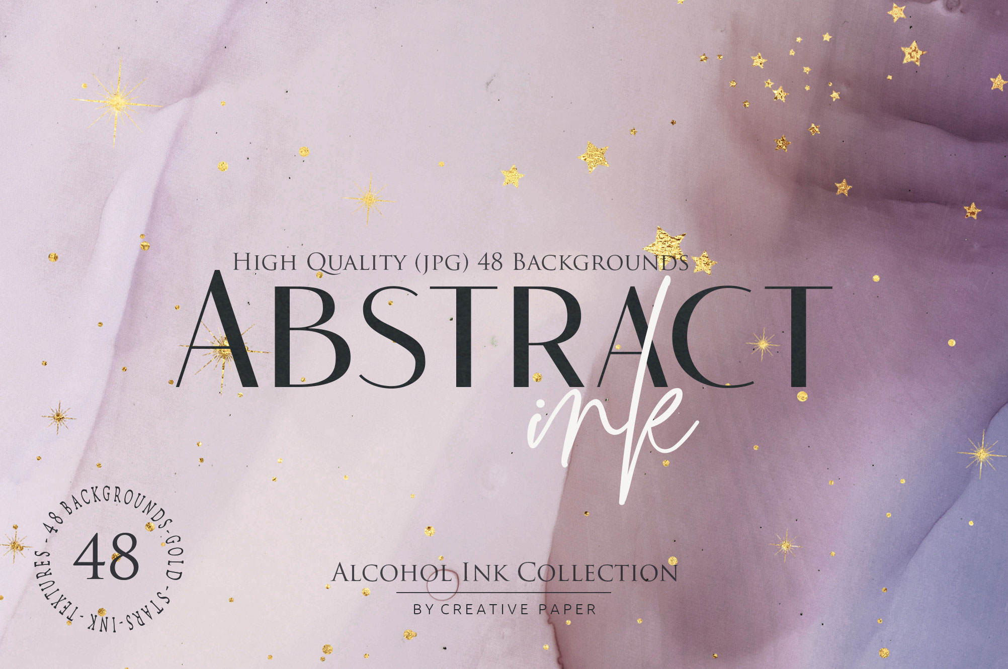 Abstract Ink + Gold Stars Collection