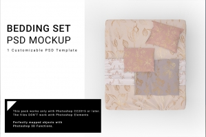 Bed Linens Mockup Set No. 3