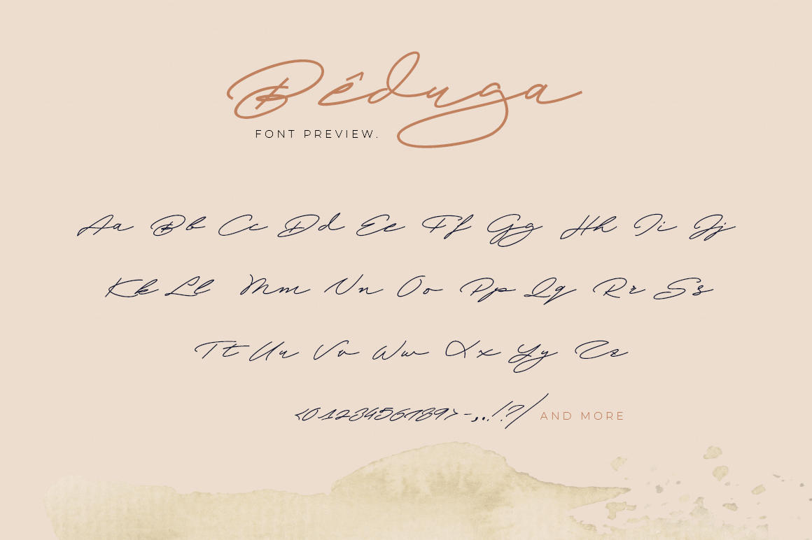Beduga | Quick Handwritten