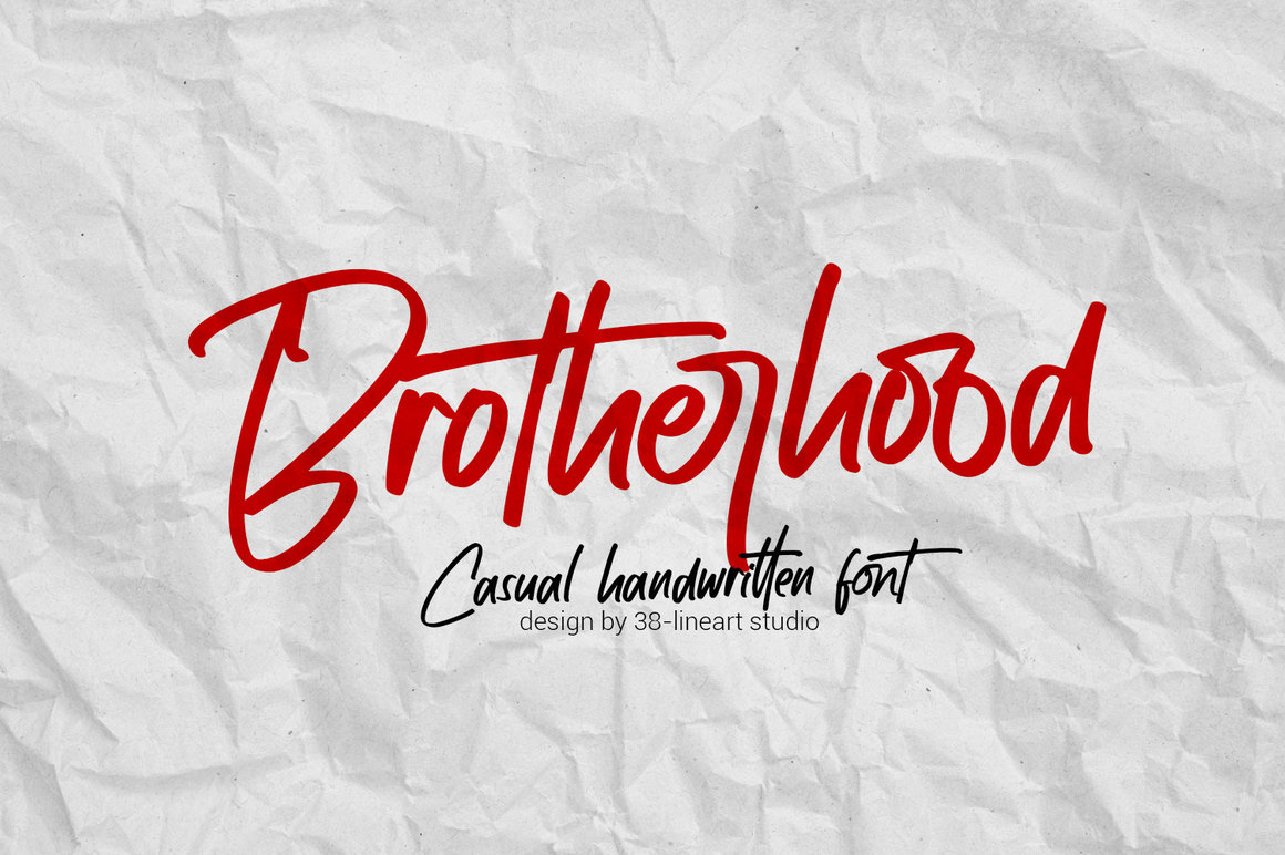 Brotherhood - Casual Handwritten Font