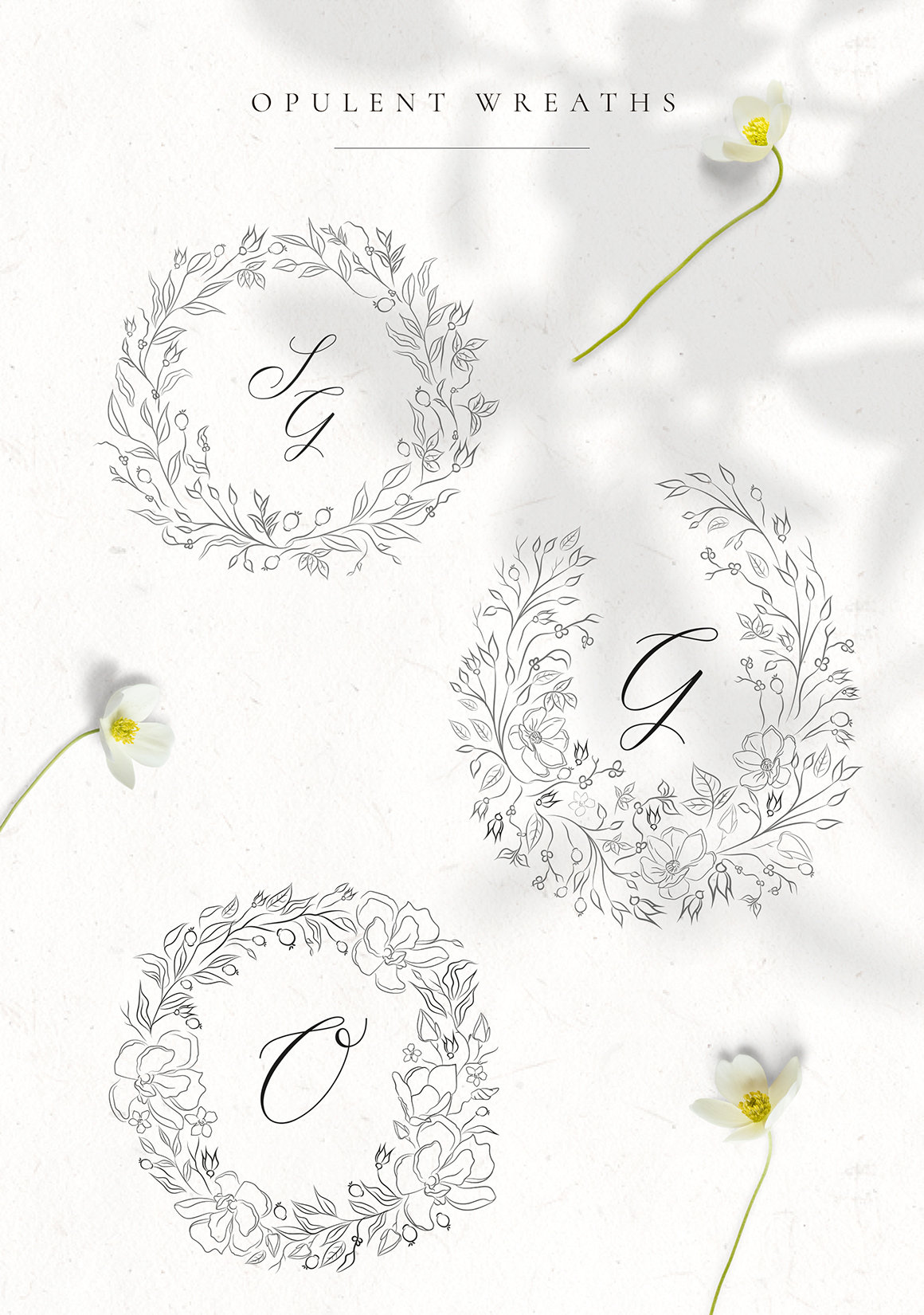 Floral Decorative Ornate Wreaths