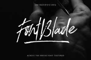 FontBlade Brush Font with Swashes
