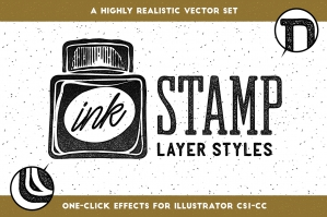Ink Stamp Layer Styles