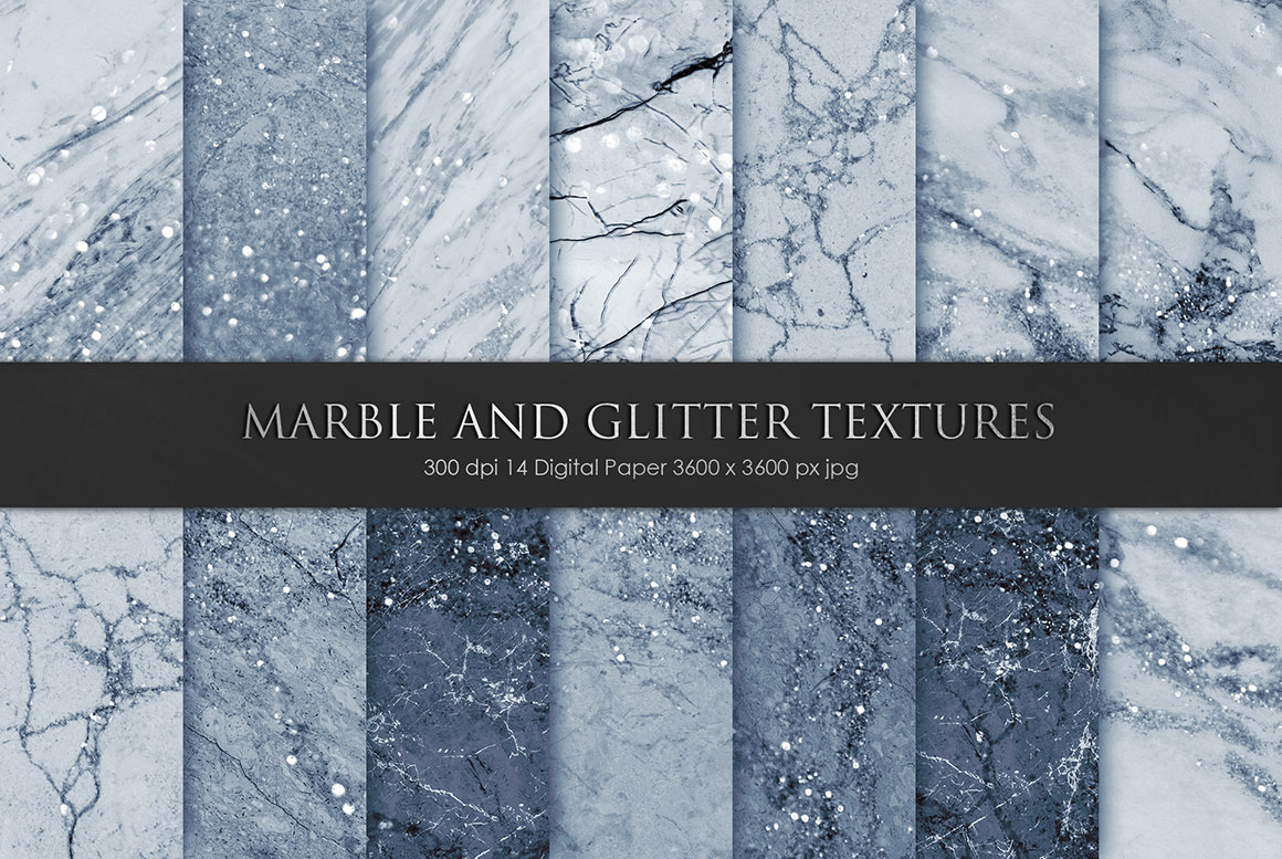 Navy Blue Marble Textures Design Cuts