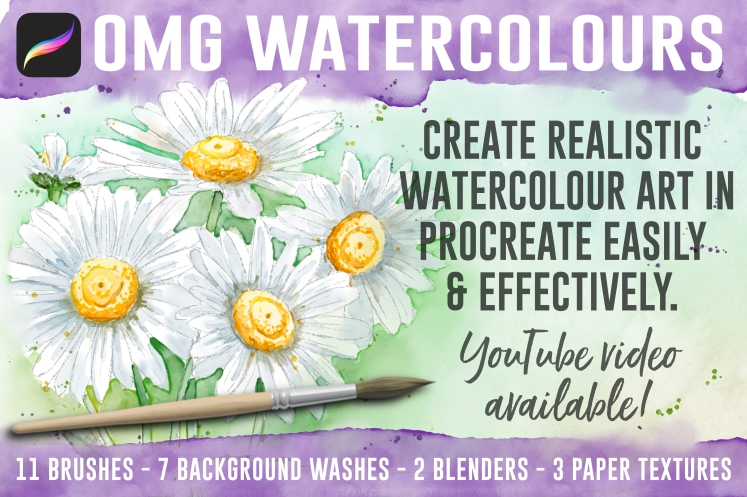 OMG Watercolours For Procreate