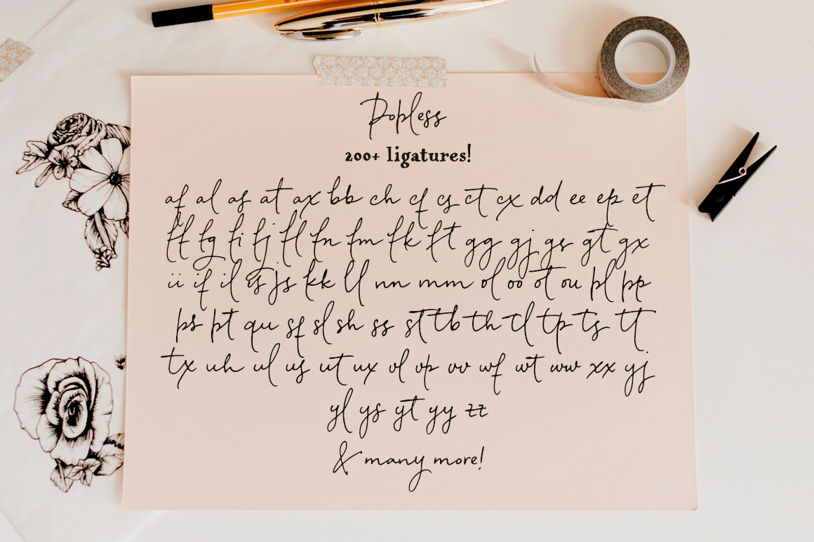 Popless Script and Serif Font Duo
