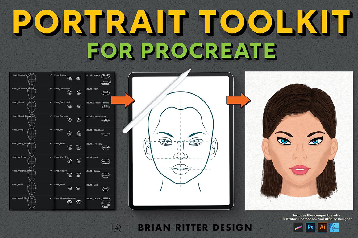 Portrait Toolkit for Procreate and Affinity