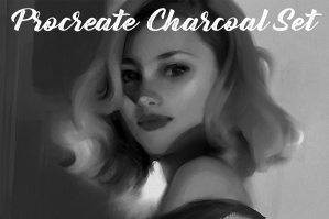 Procreate Charcoal Brush Set and Texture Pack