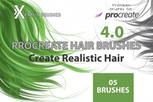 Procreate Hair Brushes 4.0