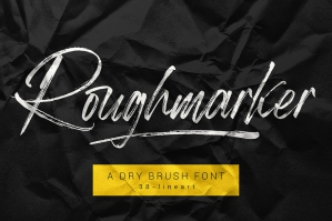 Roughmarker - Hard Brush Font